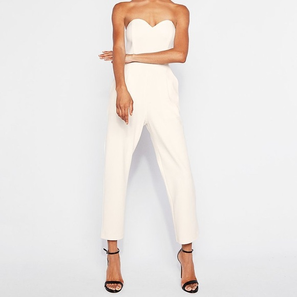 23697ca03c2 Express Other - PETITE STRAPLESS SWEETHEART NECKLINE JUMPSUIT